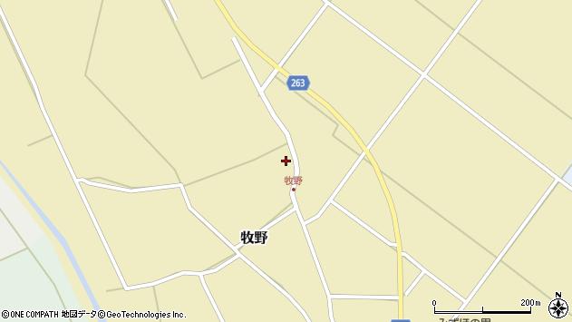 山形県上山市牧野48周辺の地図