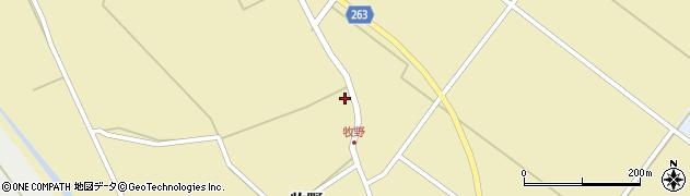 山形県上山市牧野46周辺の地図