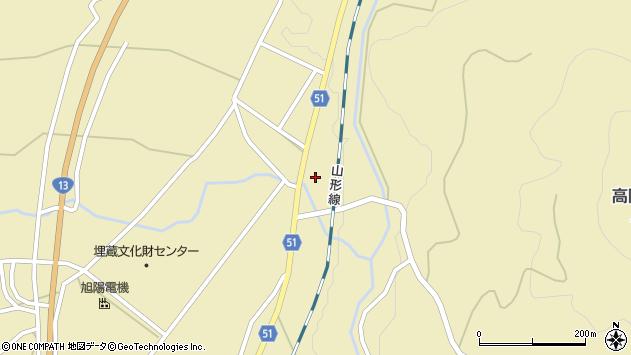 山形県上山市中山2812周辺の地図