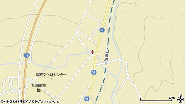 山形県上山市中山2681周辺の地図
