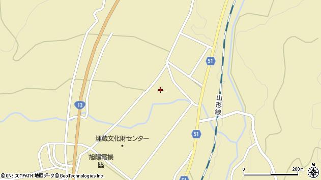 山形県上山市中山明神町2736周辺の地図