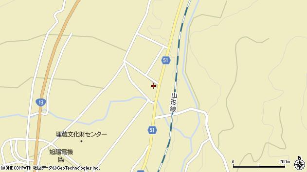 山形県上山市中山2704周辺の地図