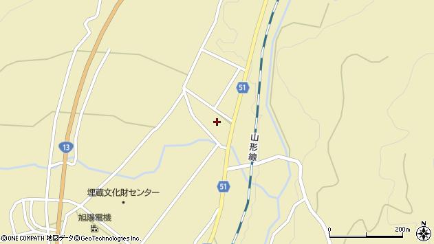 山形県上山市中山2708周辺の地図