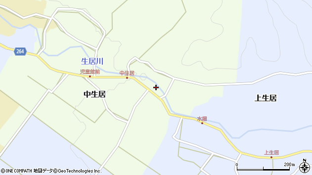山形県上山市中生居31周辺の地図
