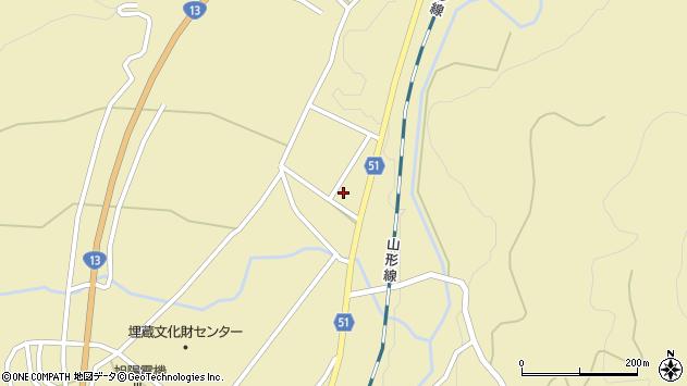 山形県上山市中山2825周辺の地図