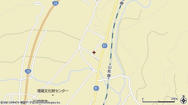山形県上山市中山2826周辺の地図