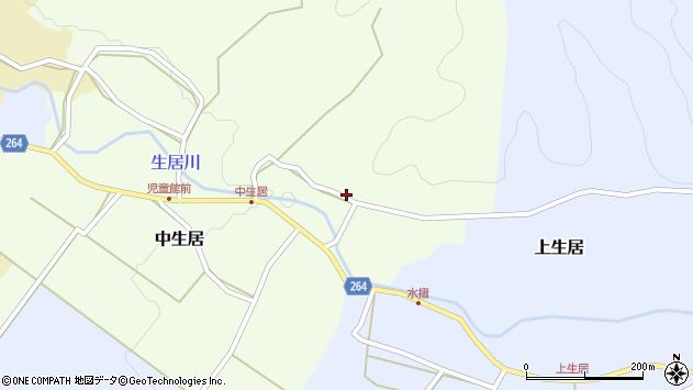 山形県上山市中生居137周辺の地図