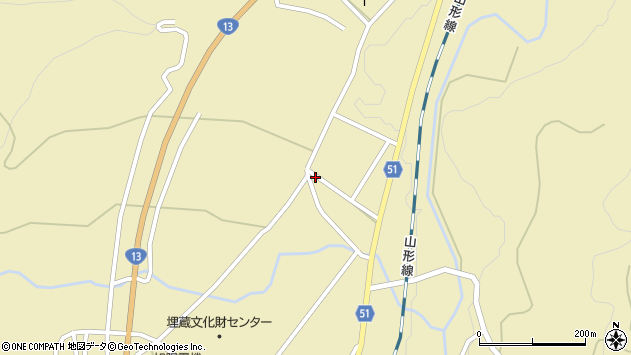 山形県上山市中山2727周辺の地図