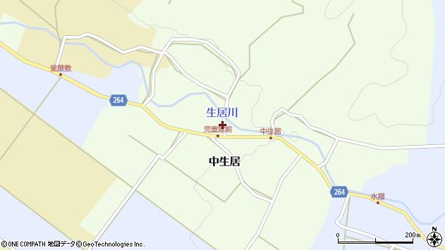 山形県上山市中生居61周辺の地図