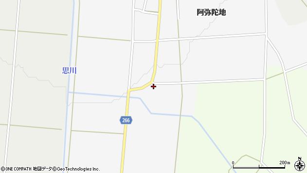 山形県上山市阿弥陀地17周辺の地図