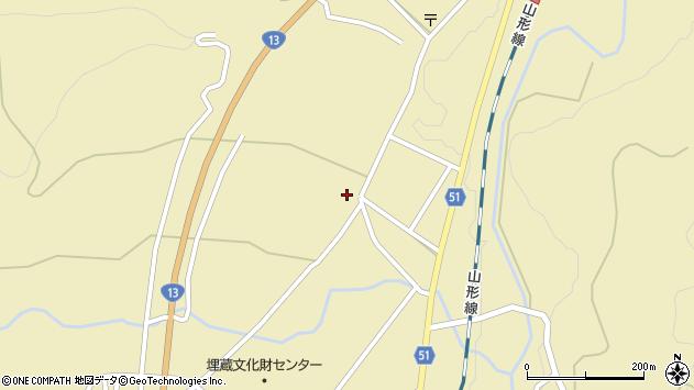 山形県上山市中山2639周辺の地図