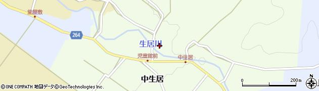 山形県上山市中生居85周辺の地図