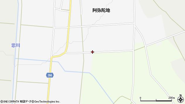 山形県上山市阿弥陀地上畑周辺の地図