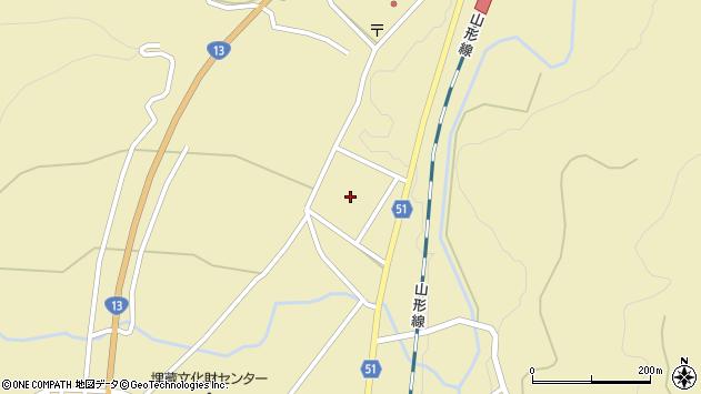 山形県上山市中山2767周辺の地図