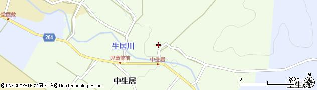 山形県上山市中生居103周辺の地図