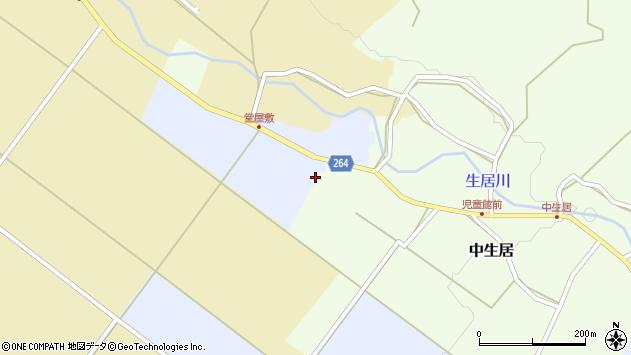 山形県上山市中生居545周辺の地図