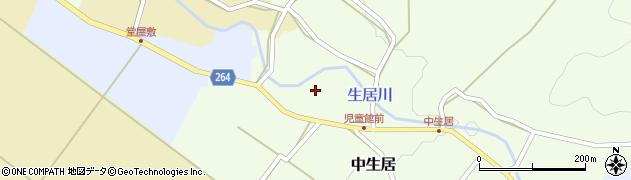 山形県上山市中生居63周辺の地図