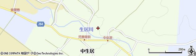 山形県上山市中生居96周辺の地図