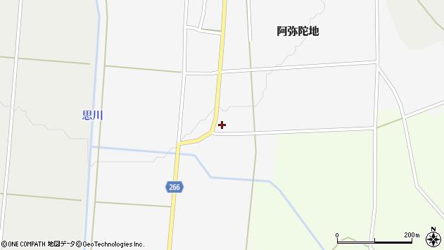 山形県上山市阿弥陀地14周辺の地図