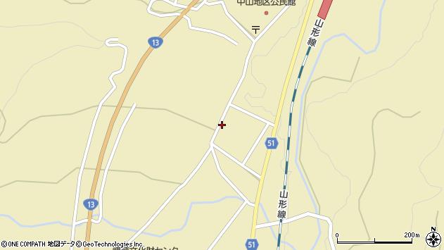 山形県上山市中山2758周辺の地図