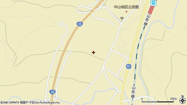 山形県上山市中山2565周辺の地図