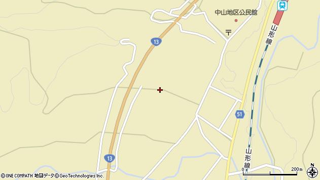 山形県上山市中山2406周辺の地図