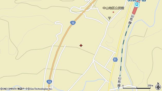 山形県上山市中山2574周辺の地図