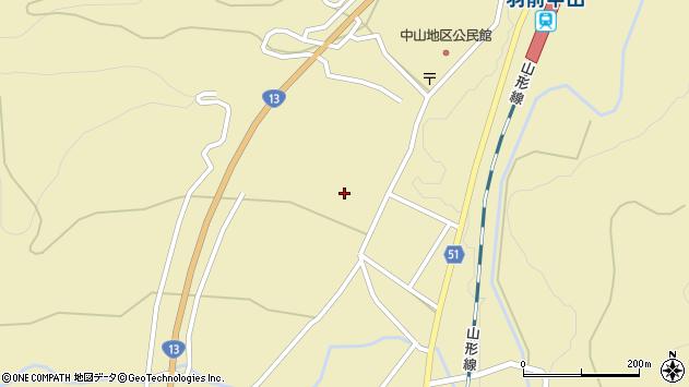 山形県上山市中山新町周辺の地図