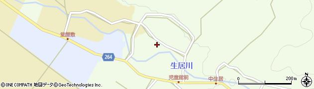 山形県上山市中生居257周辺の地図