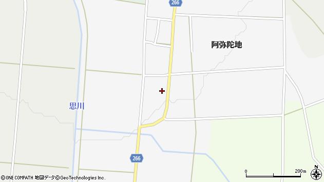 山形県上山市阿弥陀地30周辺の地図