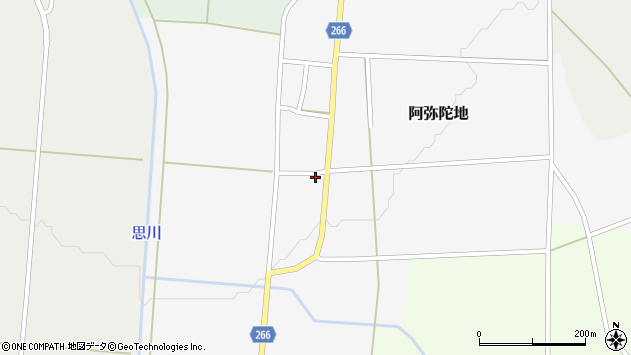 山形県上山市阿弥陀地32周辺の地図
