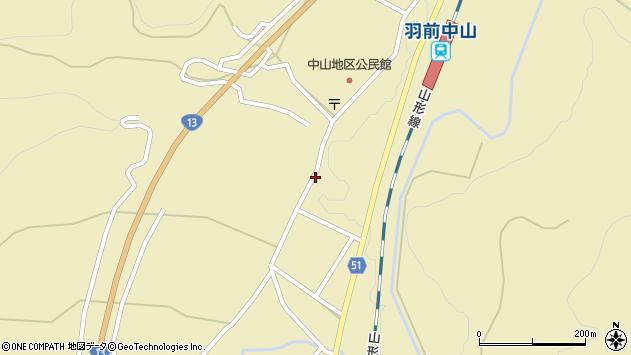 山形県上山市中山2786周辺の地図
