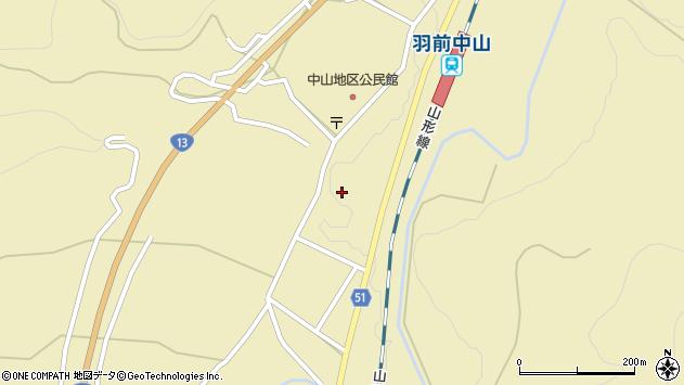 山形県上山市中山2794周辺の地図