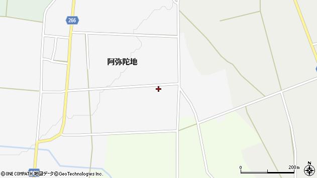 山形県上山市阿弥陀地中畑周辺の地図