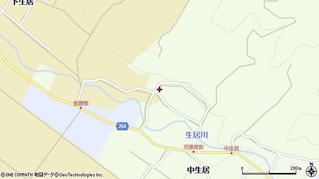 山形県上山市上生居1409周辺の地図