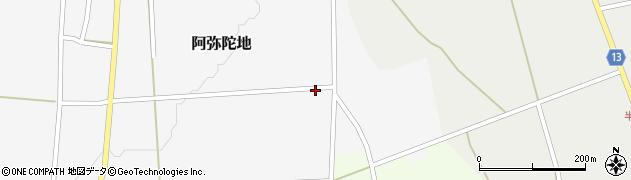 山形県上山市阿弥陀地93周辺の地図