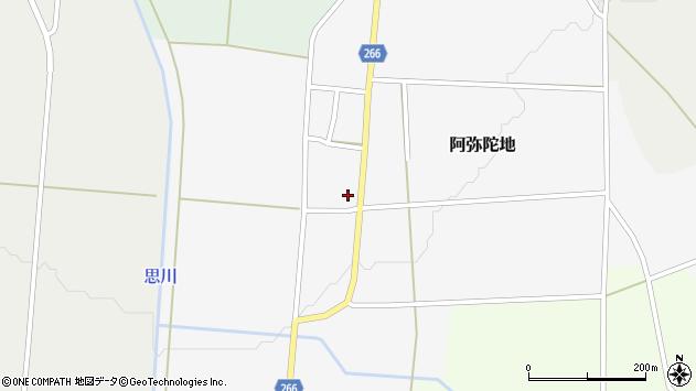 山形県上山市阿弥陀地35周辺の地図
