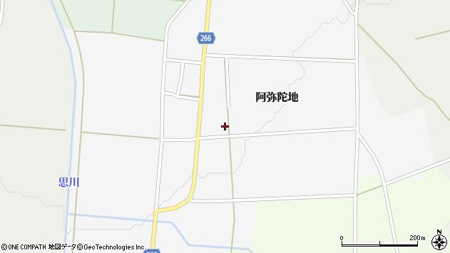 山形県上山市阿弥陀地501周辺の地図