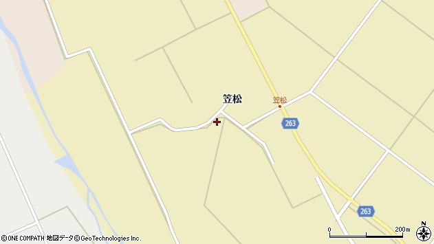 山形県上山市牧野笠松周辺の地図