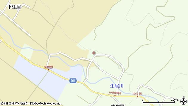 山形県上山市中生居287周辺の地図