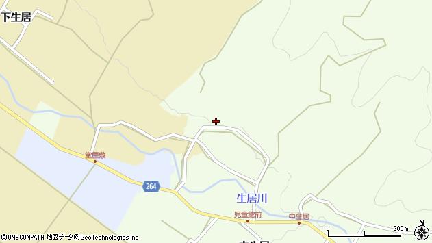 山形県上山市中生居277周辺の地図