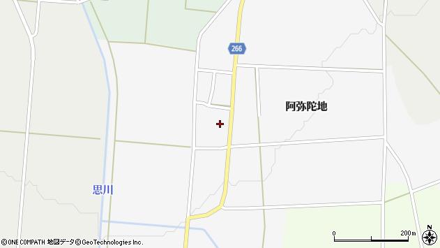 山形県上山市阿弥陀地周辺の地図