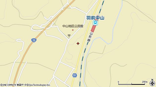山形県上山市中山3062周辺の地図