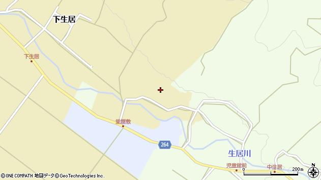 山形県上山市下生居40周辺の地図