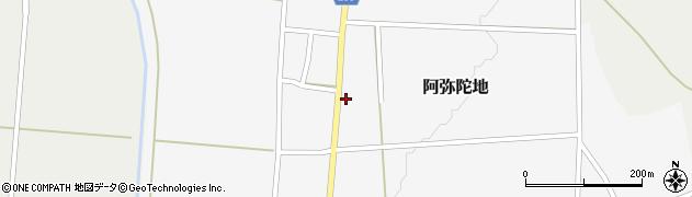 山形県上山市阿弥陀地4周辺の地図