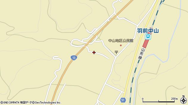 山形県上山市中山3222周辺の地図