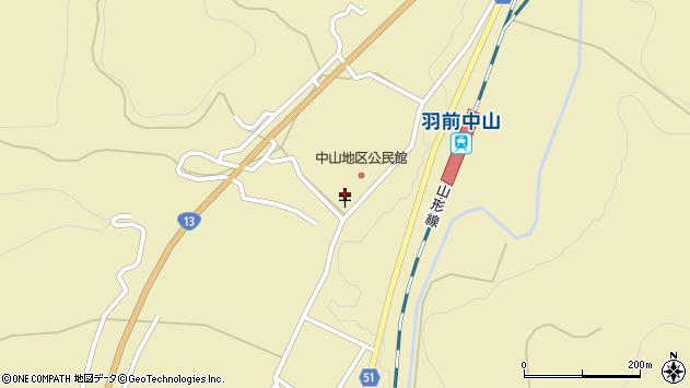 山形県上山市中山3152周辺の地図