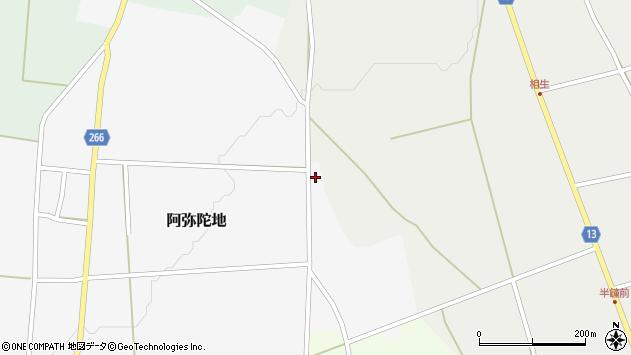 山形県上山市阿弥陀地1035周辺の地図