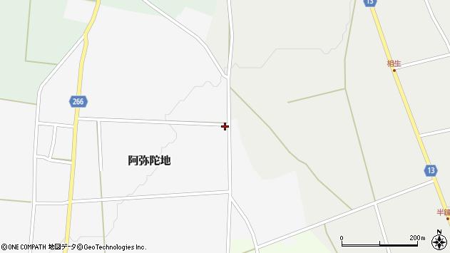 山形県上山市阿弥陀地見ル目周辺の地図