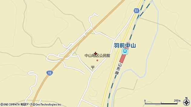 山形県上山市中山上町3155周辺の地図